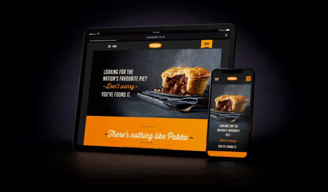 Pukka Pies – Website Design and Development